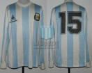 Argentina - 1989 - Home - Le Coq Sportif - Friendly vs Chile - S. Maciel