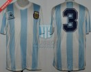 Argentina - 1989 - Home - Le Coq Sportif - Friendly vs Italy - J. Simon