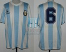 Argentina - 1989 - Home - Le Coq Sportif - Friendly vs Italy - J. Olarticoechea