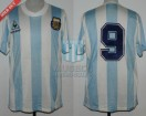 Argentina - 1989 - Home - Le Coq Sportif - Friendly vs Italy - J. Burruchaga