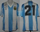 Argentina - 1990 - Home - Adidas - Friendly vs Israel - J. Olarticoechea