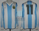 Argentina - 1990 - Home - Adidas - Friendly vs Austria - J. Basualdo