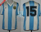 Argentina - 1990 - Home - Adidas - Friendly vs Israel - N. Fabbri