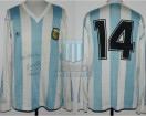 Argentina - 1991 - Home - Adidas - Copa America vs Peru - N. Craviotto