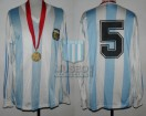 Argentina - 1991 - Home - Adidas - Final Chile Copa America vs Colombia - Medalla Campeon - L. Astrada