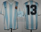 Argentina - 1991 - Home - Adidas - Friendly vs Mexico - F. Caceres