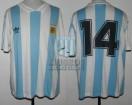 Argentina - 1993 - Home - Adidas - Ecuador Copa America vs Bolivia - N. Craviotto