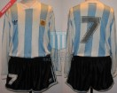 Argentina - 1993 - Home - Adidas - Qualy USA WC vs Paraguay - J. Zamora