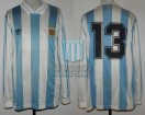 Argentina - 1993 - Home - Adidas - Qualy USA WC vs Paraguay - F. Caceres