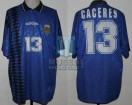 Argentina - 1994 - Away - Adidas - USA WC vs Greece - F. Caceres