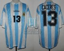 Argentina - 1994 - Home - Adidas - R16 USA WC vs Romania - F. Caceres