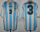 Argentina - 1994 - Home - Adidas - USA WC vs Bulgary - J. Chamot