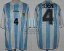 Argentina - 1994 - Home - Adidas - USA WC vs Nigeria - R. Sensini