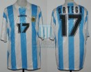 Argentina - 1994 - Home - Adidas - R16 USA WC vs Romania - A. Ortega