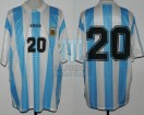 Argentina - 1995 - Home - Adidas - Friendly vs Brasil - A. Ortega