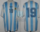 Argentina - 1995 - Home - Adidas - Friendly vs Venezuela - M. Delgado