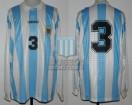 Argentina - 1995 - Home - Adidas - QF Uruguay Copa America vs Brasil - J. Chamot