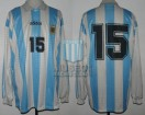Argentina - 1995 - Home - Adidas - Uruguay Copa America vs USA - N. Fabbri