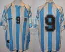 Argentina - 1997 - Home - Adidas - Qualy France WC vs Uruguay - G. Batistuta