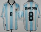 Argentina - 1998 - Home - Adidas - QF France WC vs Holland - D. Simeone