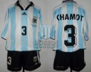 Argentina - 1998 - Home - Adidas - France WC vs Jamaica - J. Chamot