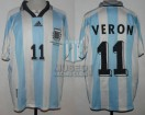 Argentina - 1998 - Home - Adidas - France WC vs Japan - J. Veron
