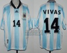 Argentina - 1998 - Home - Adidas - France WC vs Japon - N. Vivas