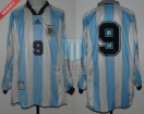 Argentina - 1998 - Home - Adidas - Friendly vs Bosnia - G. Batistuta