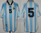 Argentina - 1998 - Home - Adidas - Friendly vs Brasil - M. Almeyda
