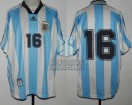 Argentina - 1998 - Home - Adidas - Friendly vs Bulgary - S. Berti