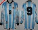 Argentina - 1998 - Home - Adidas - Friendly vs Ireland - G. Batistuta