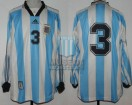 Argentina - 1998 - Home - Adidas - Friendly vs South Africa - P. Paz