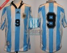 Argentina - 1998 - Home - Adidas - Friendly vs Brasil - G. Batistuta