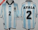 Argentina - 1998 - Home - Adidas - QF France WC vs Holland - R. Ayala