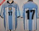 Argentina - 2001 - Home - Reebok - Qualy Korea/Japan WC vs Bolivia - G. Lopez