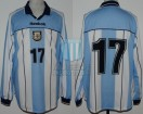 Argentina - 2000 - Home - Reebok - Qualy Korea/Japan WC vs Paraguay - G. Lopez