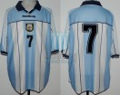 Argentina - 2001 - Home - Reebok - Qualy Korea/Japan WC vs Ecuador - C. Lopez