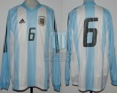 Argentina - 2002 - Home - Adidas - Friendly vs Germany - W. Samuel
