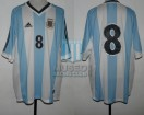 Argentina - 2002 - Home - Adidas - Friendly vs Wales - J. Riquelme
