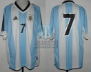 Argentina - 2002 - Home - Adidas - Friendly vs Wales - C. Caniggia