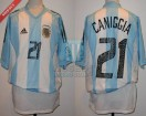 Argentina - 2002 - Home - Adidas - Korea / Japan WC - C. Caniggia