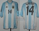 Argentina - 2002 - Home - Adidas - Korea/Japan WC vs England - D. Simeone