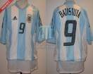 Argentina - 2002 - Home - Adidas - Korea/Japan WC vs England - G. Batistuta