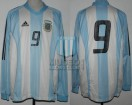 Argentina - 2003 - Home - Adidas - Friendly vs Uruguay - D. Milito