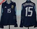 Argentina - 2004 - Away - Adidas - Copa America vs Uruguay - L. Fernandez