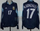 Argentina - 2004 - Away - Adidas - Copa America vs Uruguay - M. Gonzalez