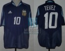 Argentina - 2004 - Away - Adidas - Athens Olympics Games vs Serbia - CAMPEON - C. Tevez