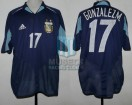Argentina - 2004 - Away - Adidas - QF Athenas Olympic games vs Costa Rica - CAMPEON - M. Gonzalez