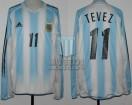 Argentina - 2004 - Home - Adidas - Copa America vs Ecuador - C. Tevez