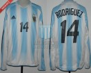 Argentina - 2004 - Home - Adidas - Copa America vs Ecuador - C. Rodriguez